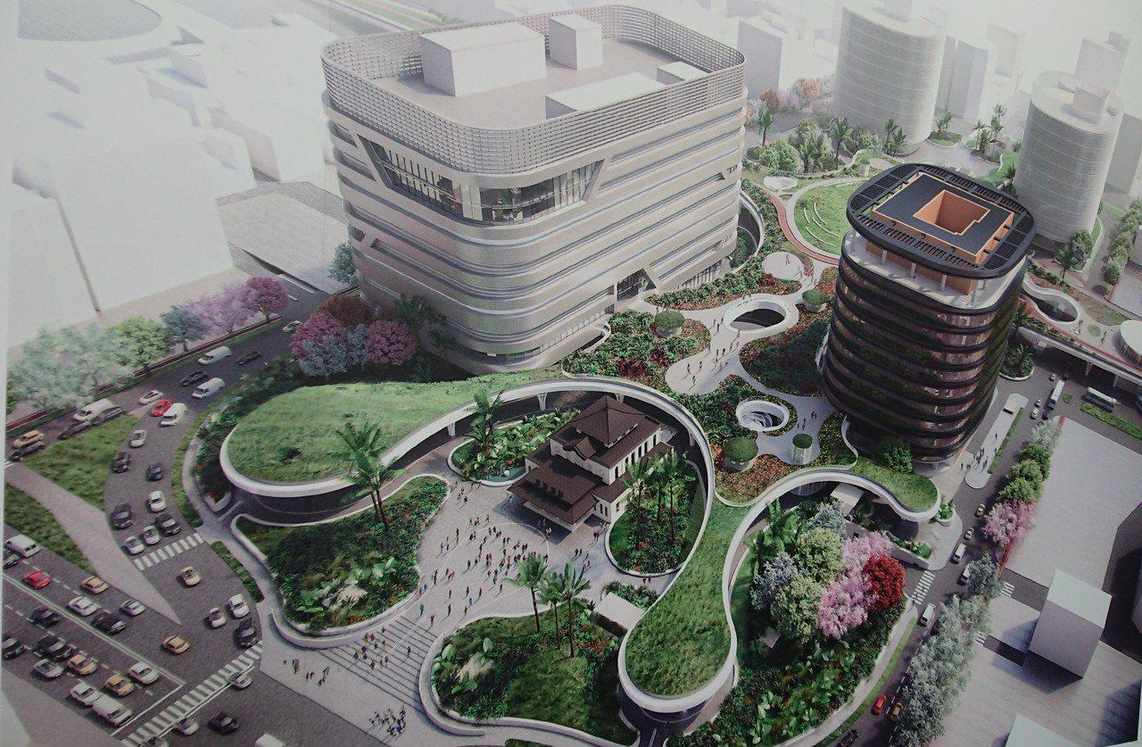 高雄鐵路地下化去年10月通車後,進入第二階段工程,包括商辦及旅館大樓、沿線綠廊帶...