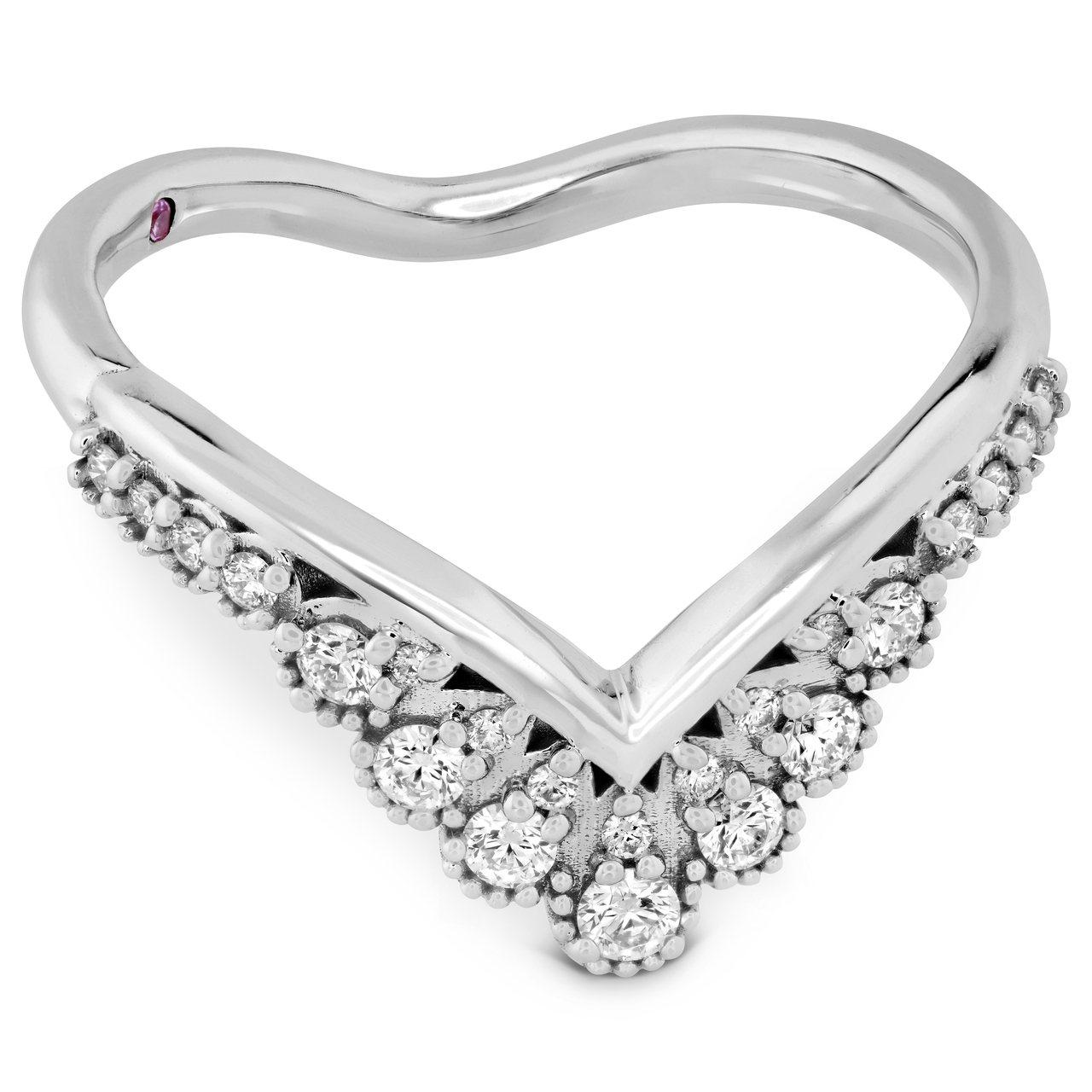 BEHATI SILHOUETTE戒指,白K金鑲嵌鑽石與粉紅剛玉,65,000元...
