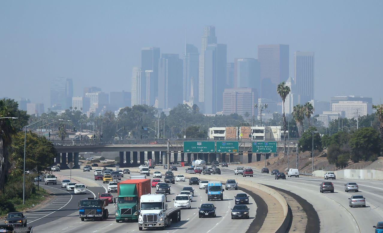美國加州洛杉磯的空氣品質不佳。法新社