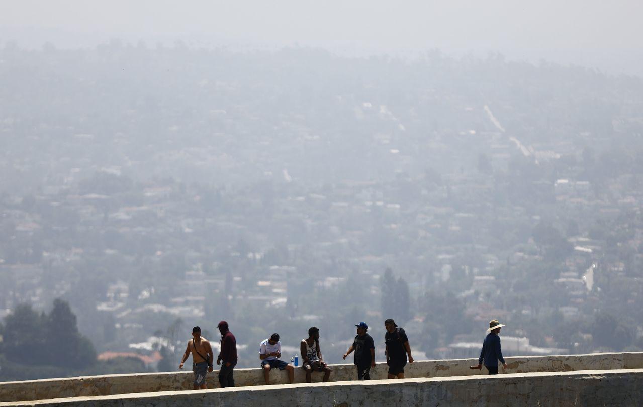 美國加州洛杉磯的空氣品質在今年7月5日達到「不健康」程度。法新社