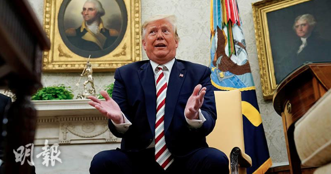 美國總統川普表示,即使會對美國經濟造成短期傷害,也須在貿易上與中國對抗。(路透社...