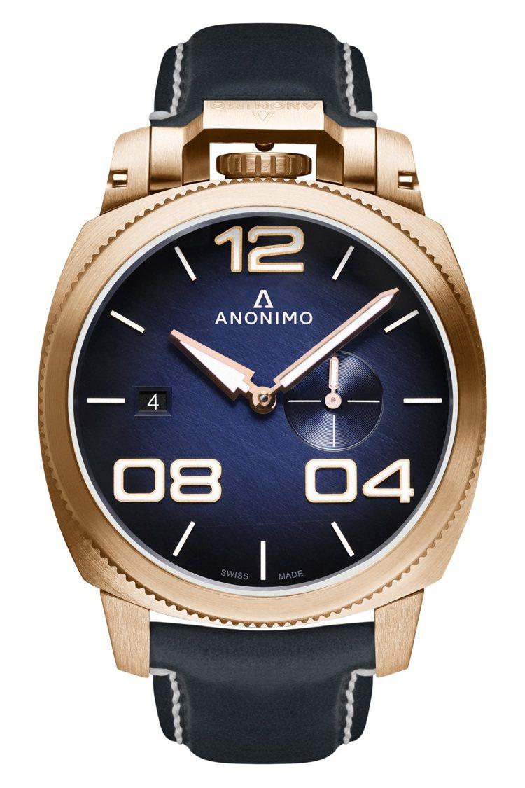 ANONIMO Militare義式軍風系列腕表,青銅表殼,動力儲存38小時,搭...