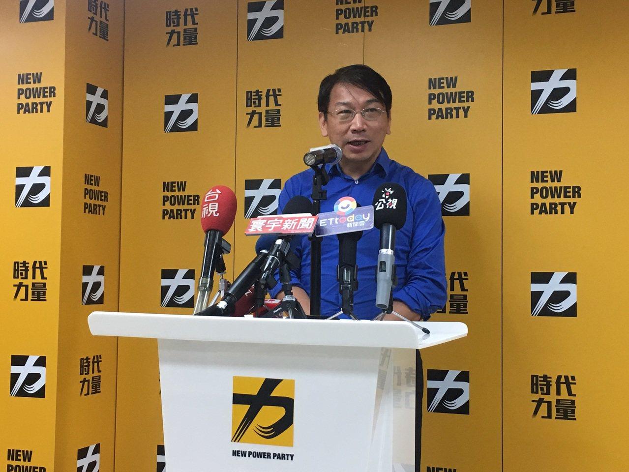 時代力量新任黨主席徐永明。攝影/記者蔡晉宇