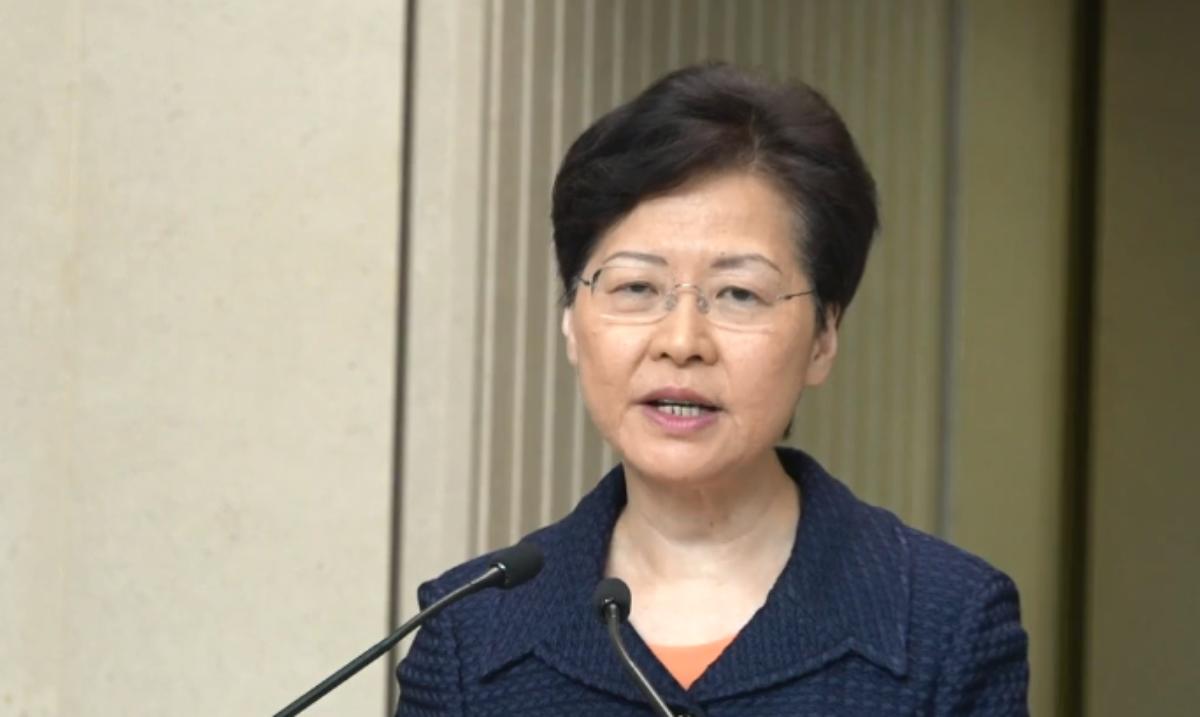 香港特首林鄭月娥周六首邀各界人士談構建對話平台。取自立場新聞