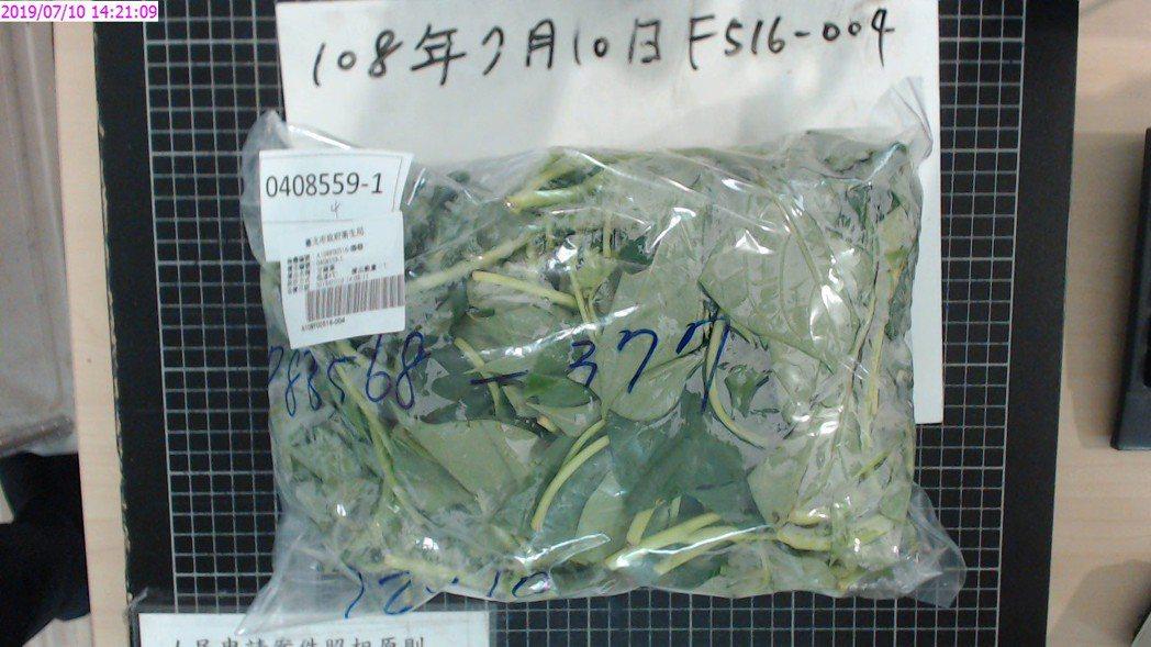 北市衛生局今天公布7月期間抽查82件生鮮蔬果農藥殘留檢驗結果,共7件不合格,包含...