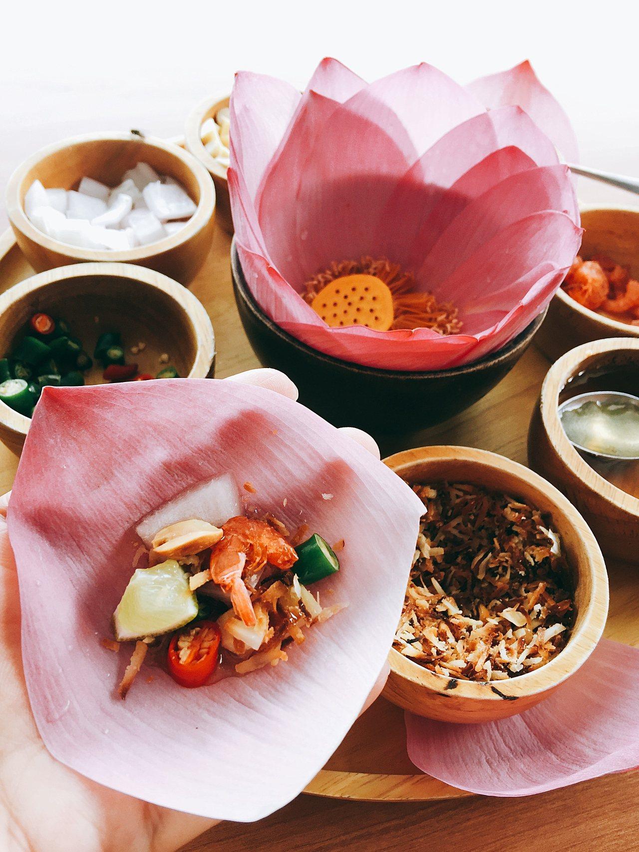 蓮花區特有的下午茶,精緻浪漫也美味。記者羅建怡/攝影