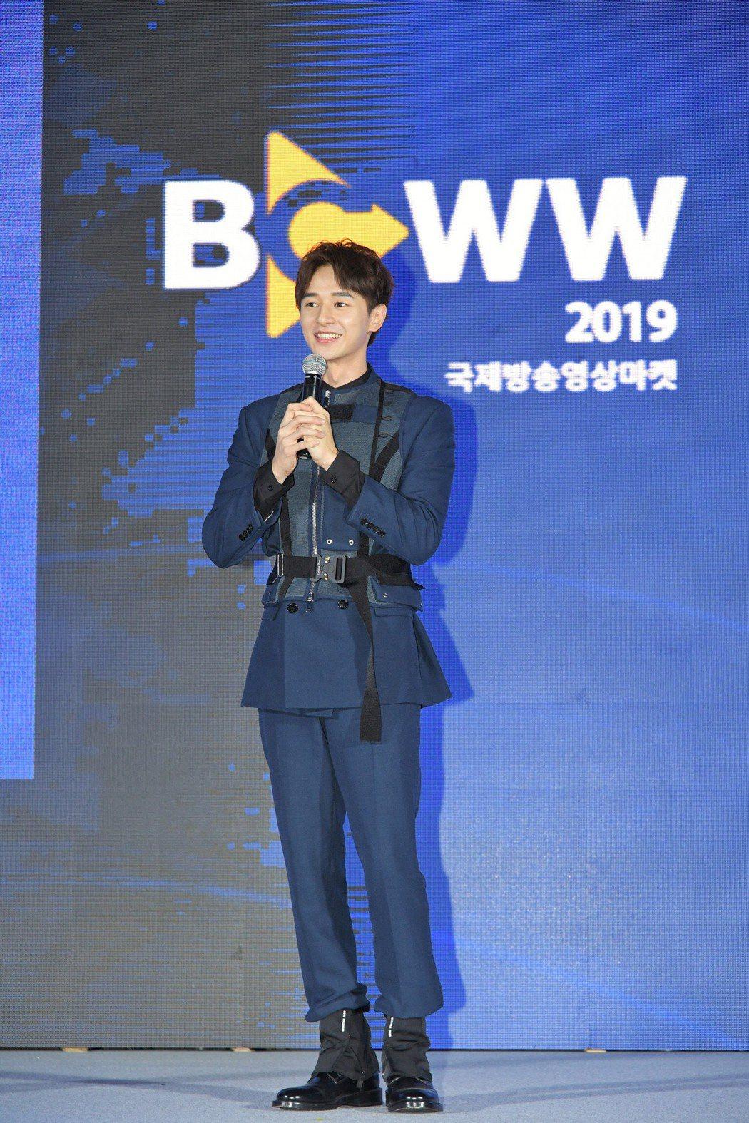 張軒睿出席韓國首爾綜合貿易中心(COEX)舉辦的「韓國國際廣播電視節目交易展」,...