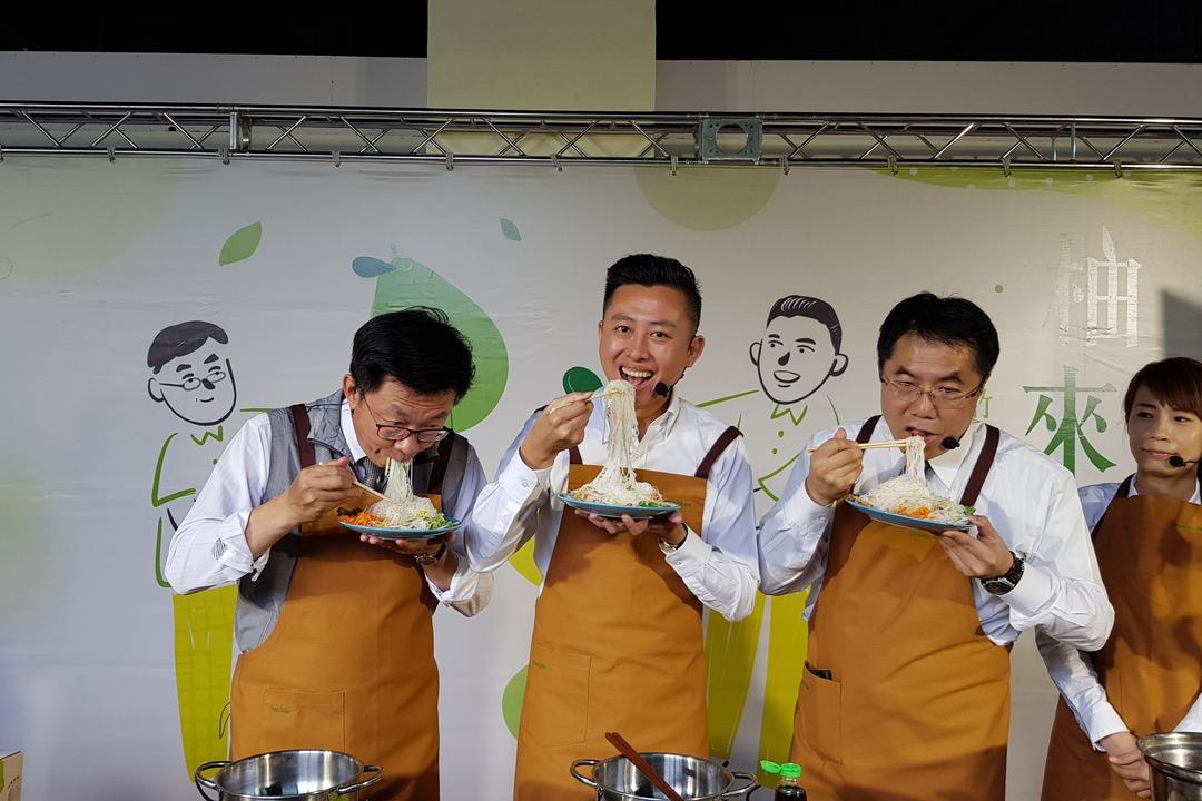 林智堅、黃偉哲直播促銷台南文旦 1500箱不夠賣