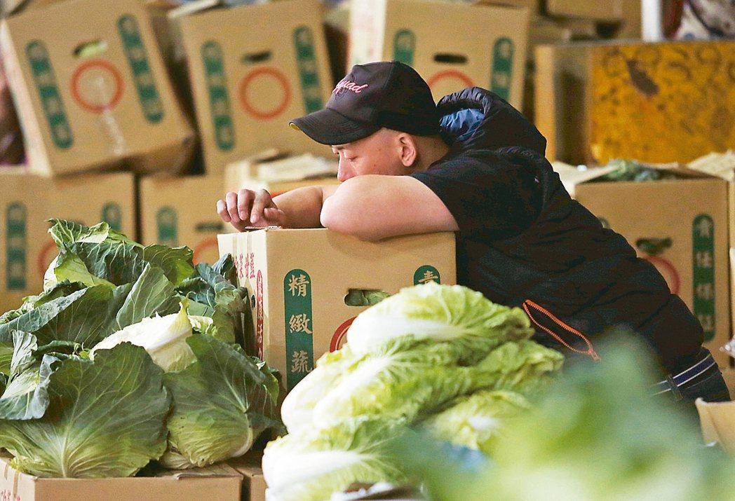 北農去年春節連續休市,事後輕忽穩定產銷,台北市政府、農委會遭監察院要求改進。圖為...