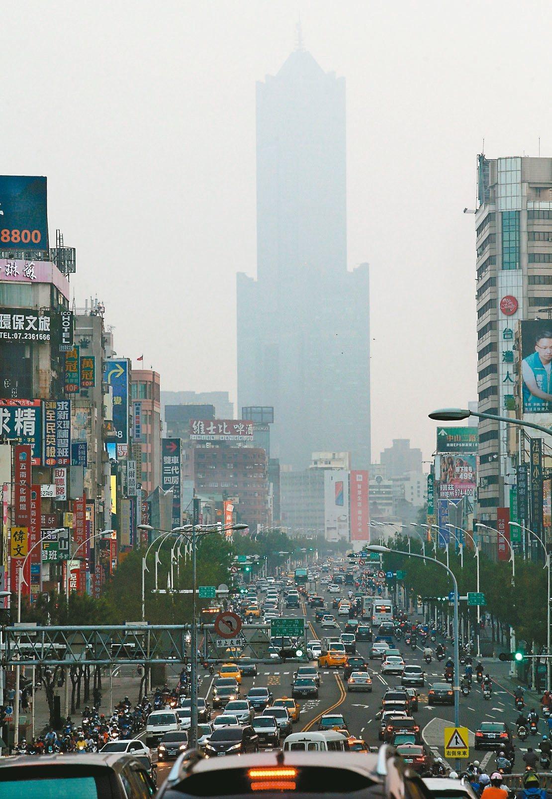 高屏地區因石化工業發展,空氣品質逐年惡化。 圖/聯合報系資料照片
