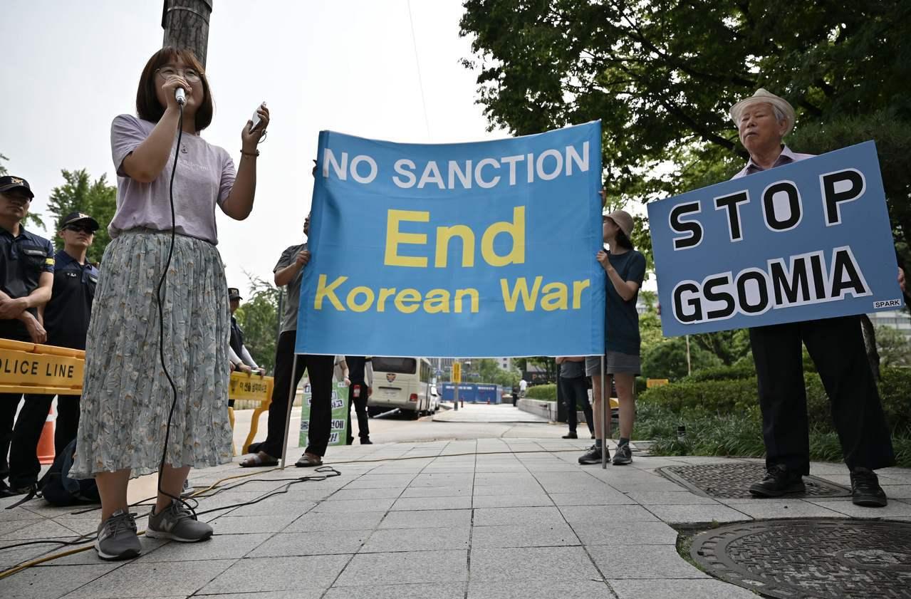 日韓糾紛擴至情資分享,美軍憂亞洲同盟出現裂縫。 法新社