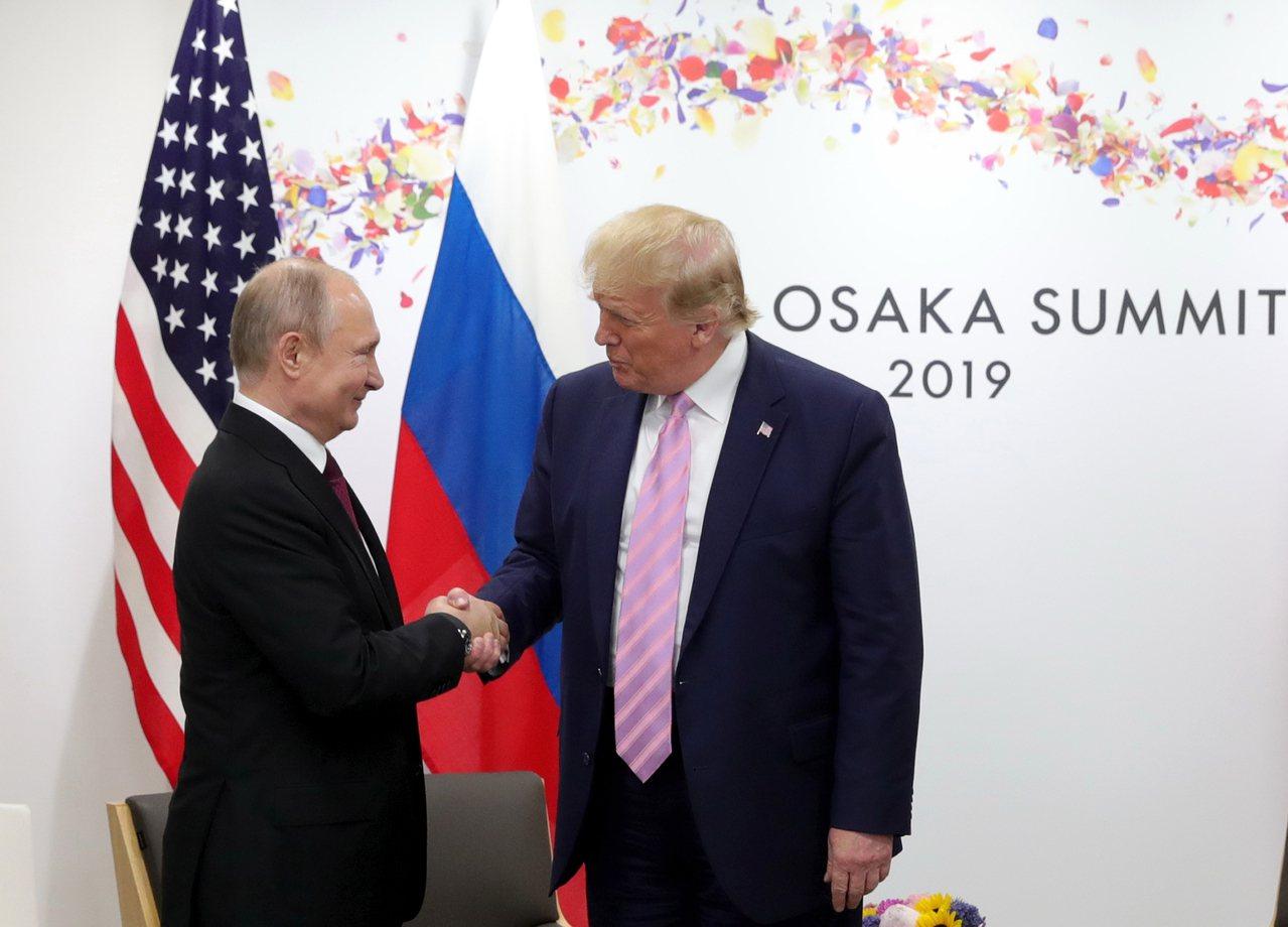川普出招挺俄重返G8。 美聯社