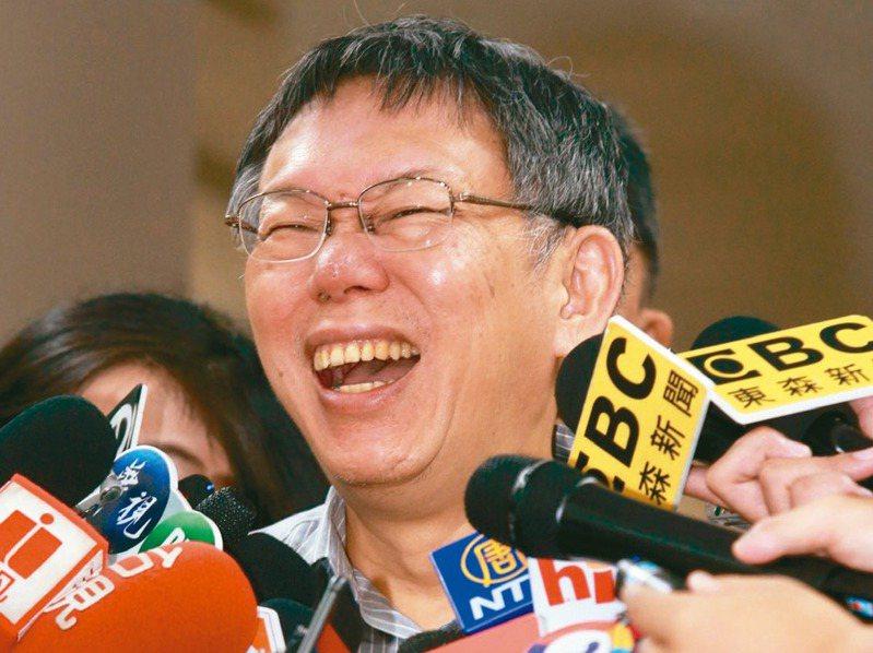台北巿長柯文哲說,八二三砲戰是過去50年台海間最重要的戰役,也因為這場戰役打贏,台灣可以維持穩定到今天。 記者黃義書/攝影