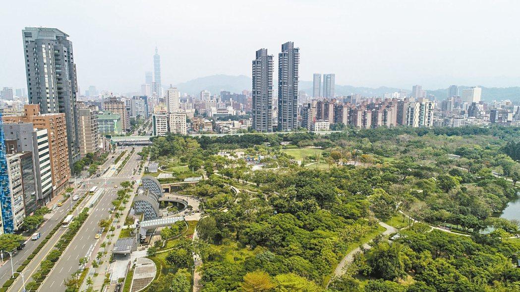 台北市大安森林公園周邊街景。 圖/聯合報系資料照片