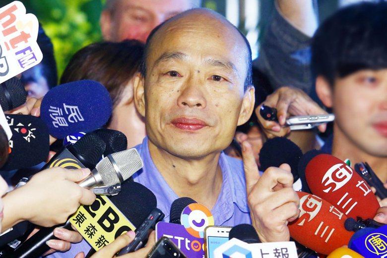 韓國瑜確定代表國民黨參選2020總統大選後,外界紛紛關注他的副手人選究竟是誰。 圖/聯合報系資料照