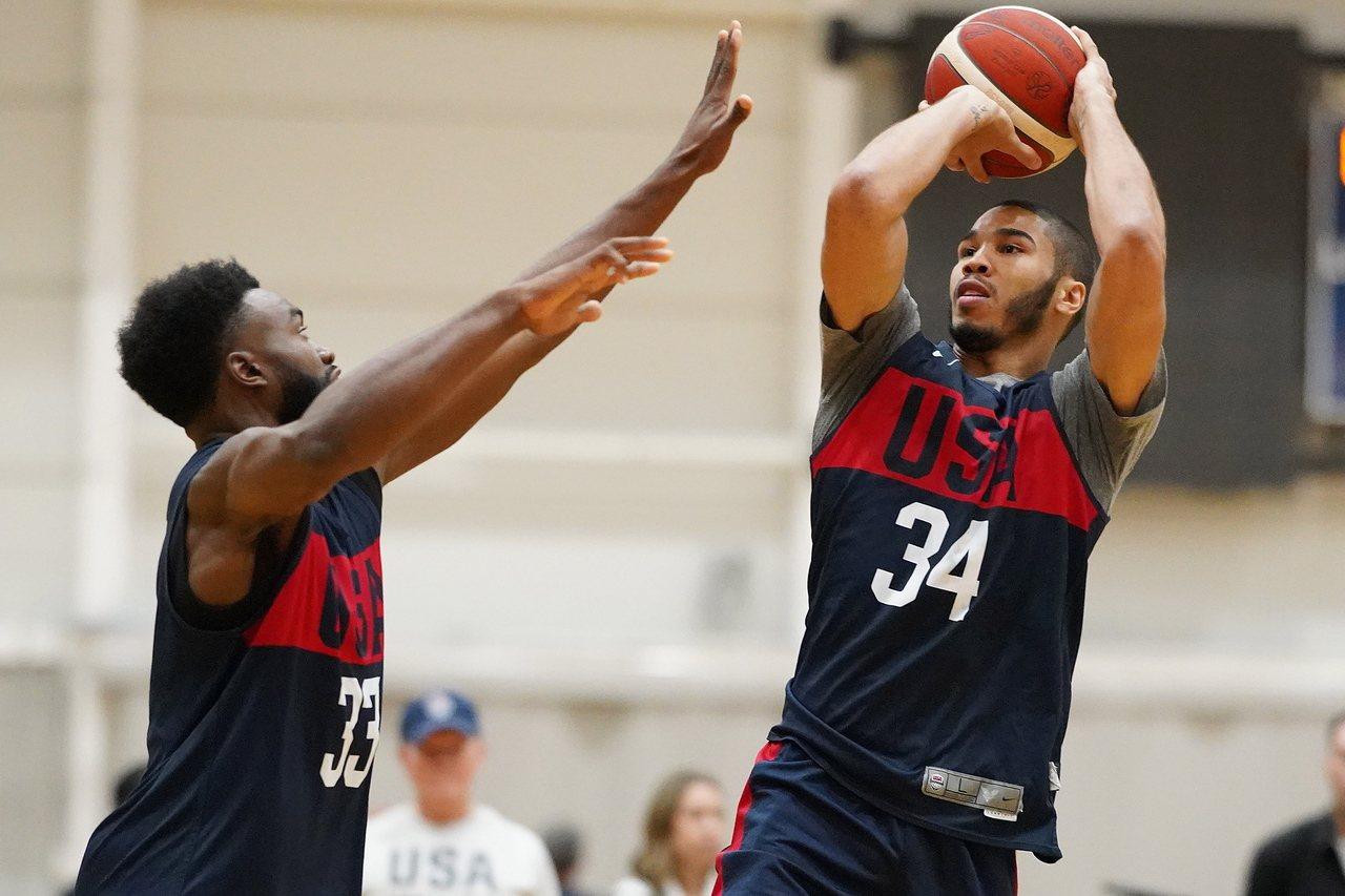 美國男籃隊。 歐新社