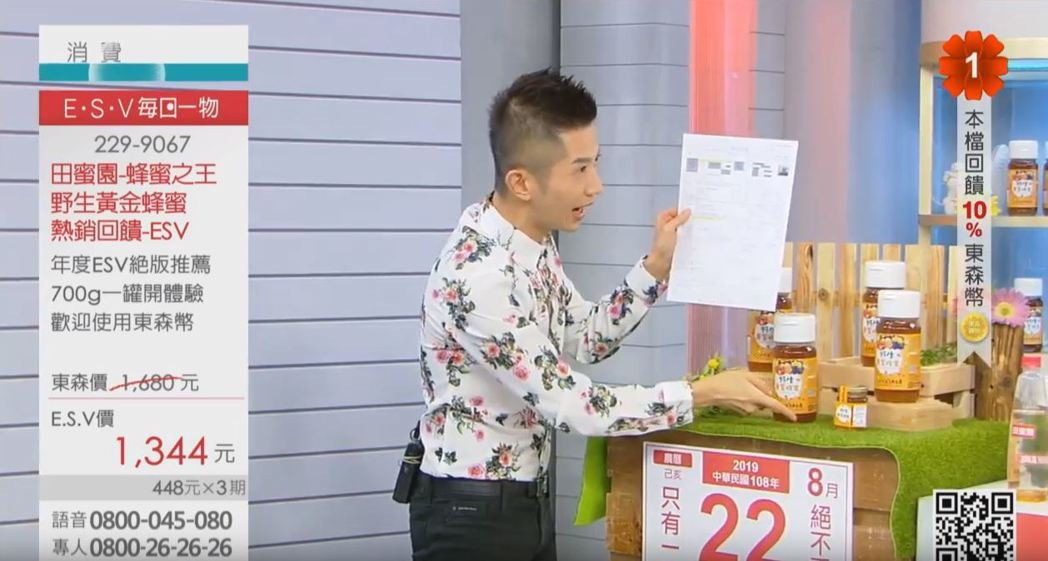 示意圖,與本文所述事件無關。 圖片來源/截自Live東森購物台直播畫面