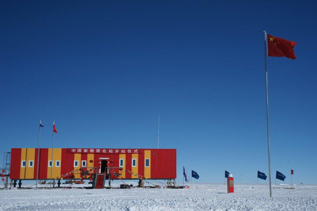 2009年,中國在冰穹A建立研究站「崑崙站」。 圖/新華社