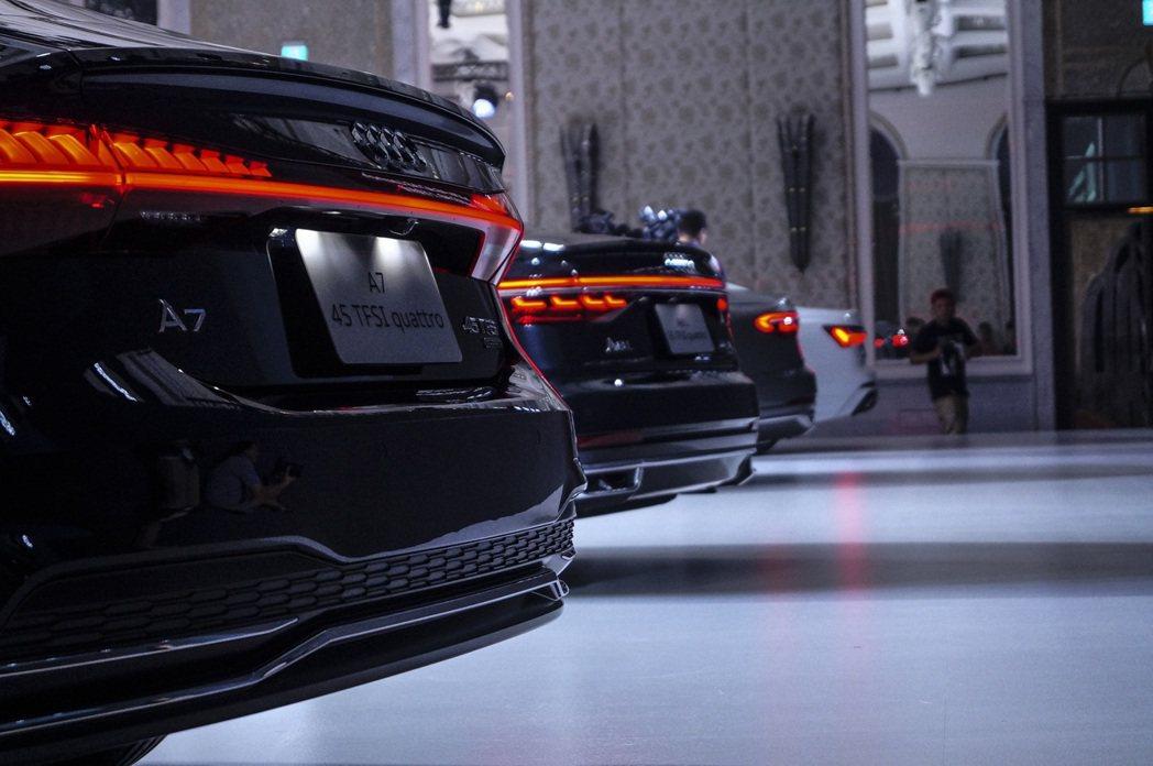 從Audi車位就能看得出新世代的設計充滿科技感。 記者趙駿宏/攝影