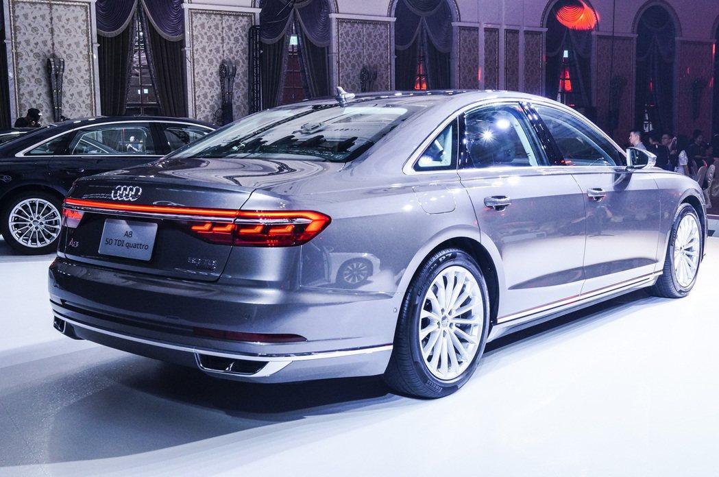 Audi A8 50 TDI quattro。 記者趙駿宏/攝影
