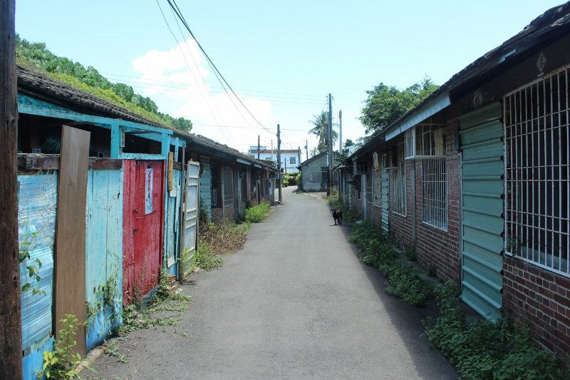 九曲堂車站舊宿舍區,過去曾是鐵道班工宿舍。圖/高雄市都發局提供
