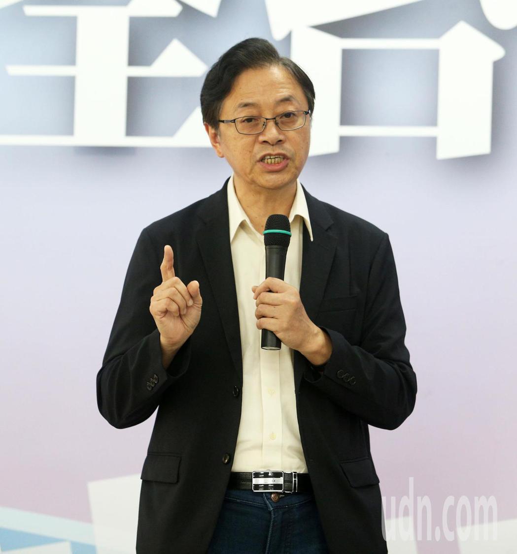 國民黨2020總統國政顧問團總召張善政。記者劉學聖/攝影