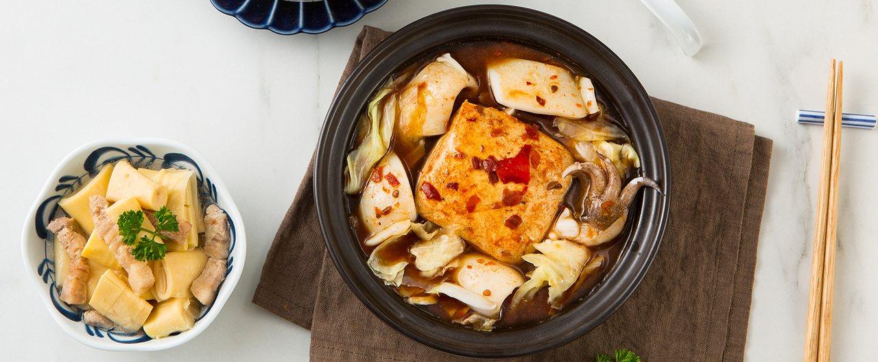 廖家生炒花枝的臭豆腐花枝。圖/台北101提供