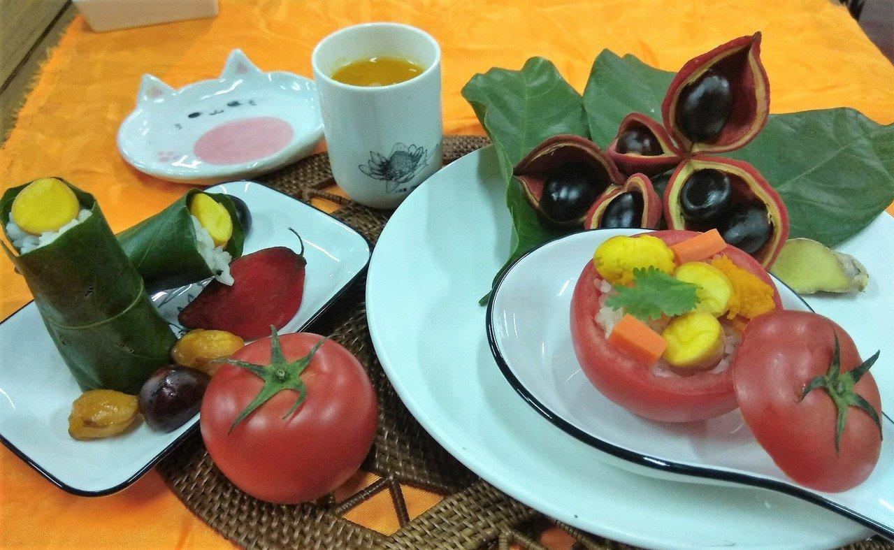 員林農會家政班將蘋婆入菜,好看又美味。圖/員林市農會提供