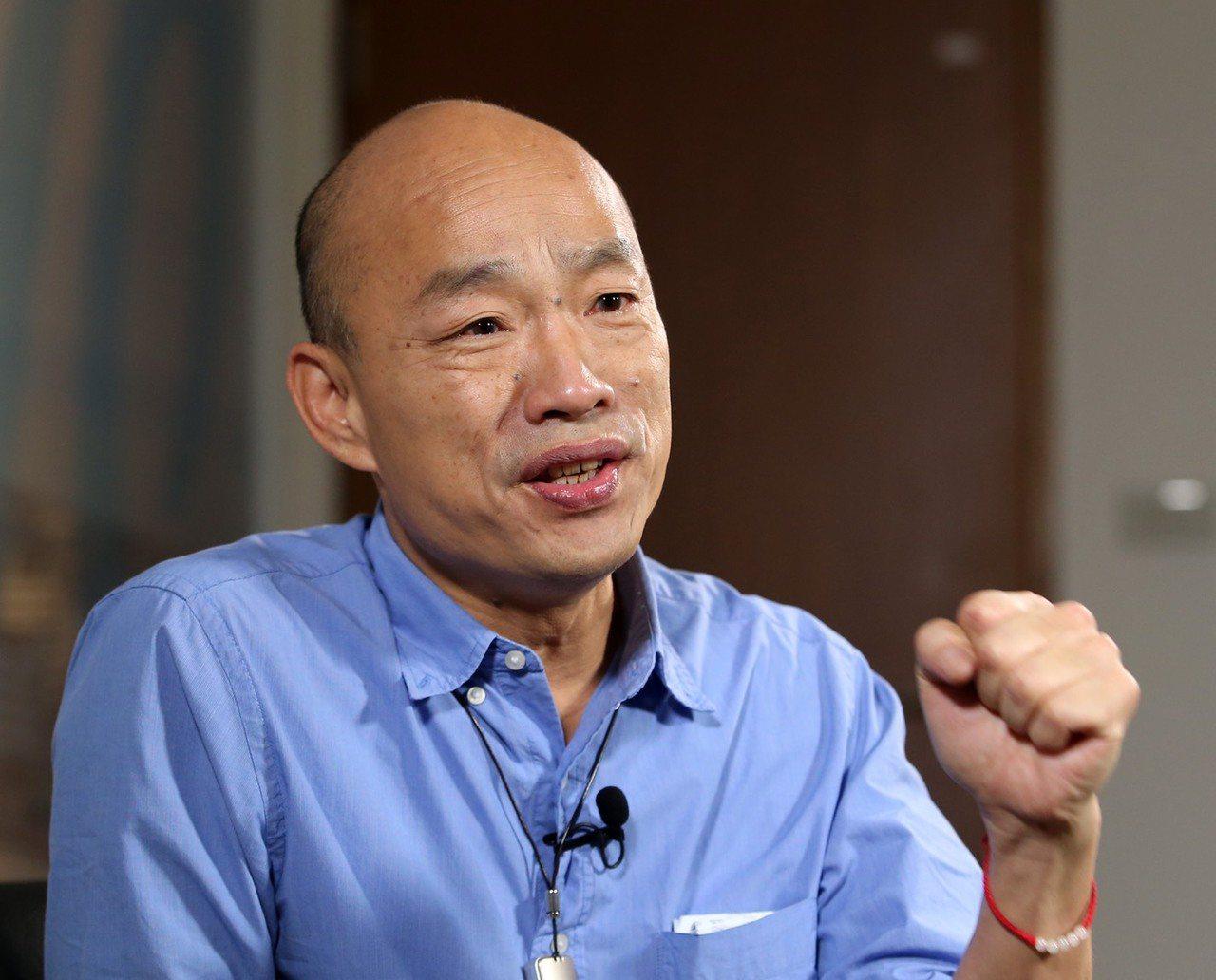 高雄市長韓國瑜。聯合報系報資料照片