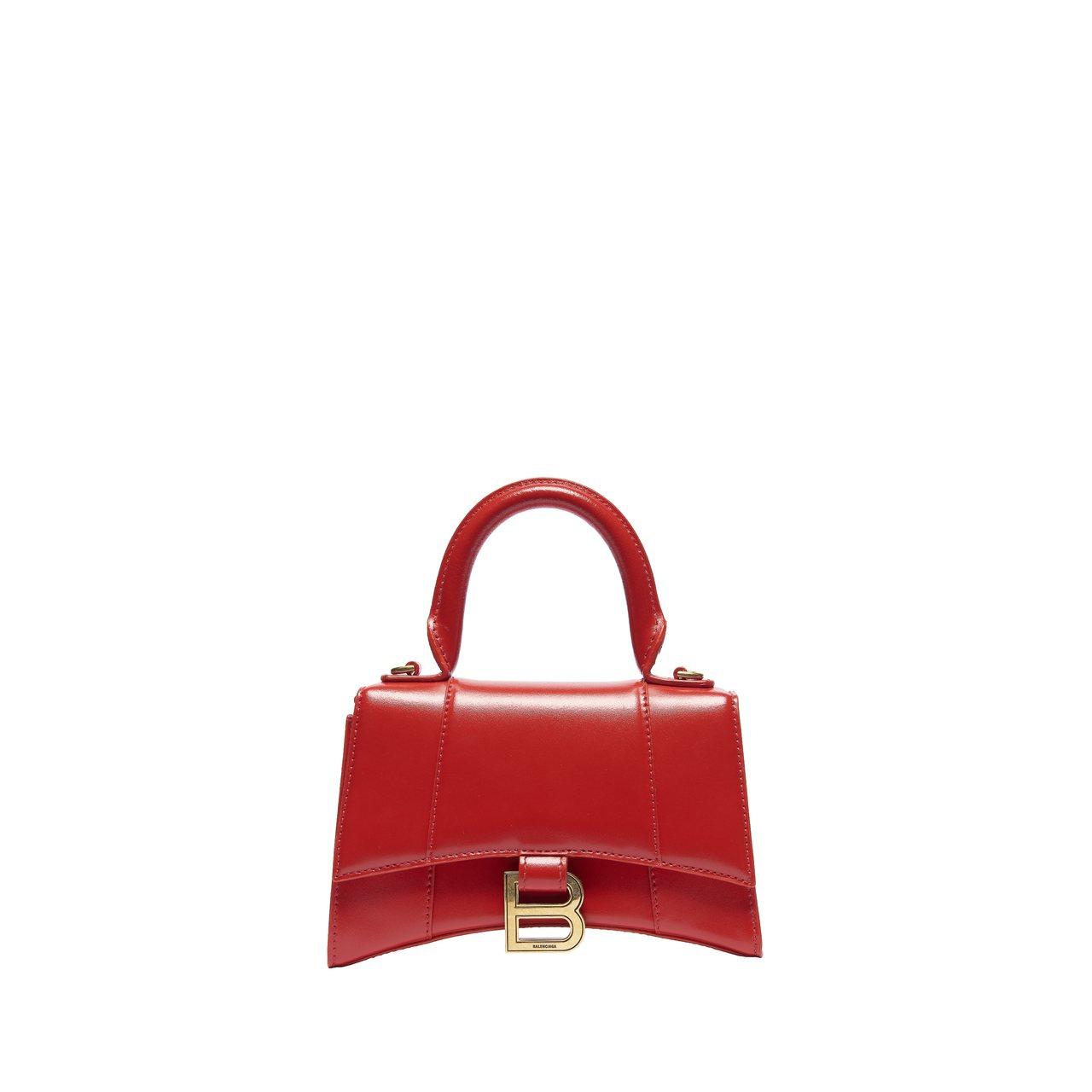 Hourglass Top Handle S小型紅色沙漏包,53,700元。圖/...