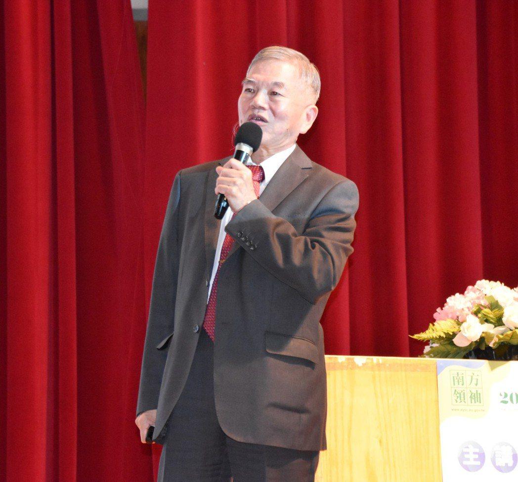 經濟部長沈榮津說,談核能要先面對核廢料處理,「不是政府不做、是不能做」。圖/行政...