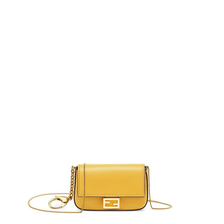 黃色Nano Baguette,售價20,800元。圖/FENDI提供