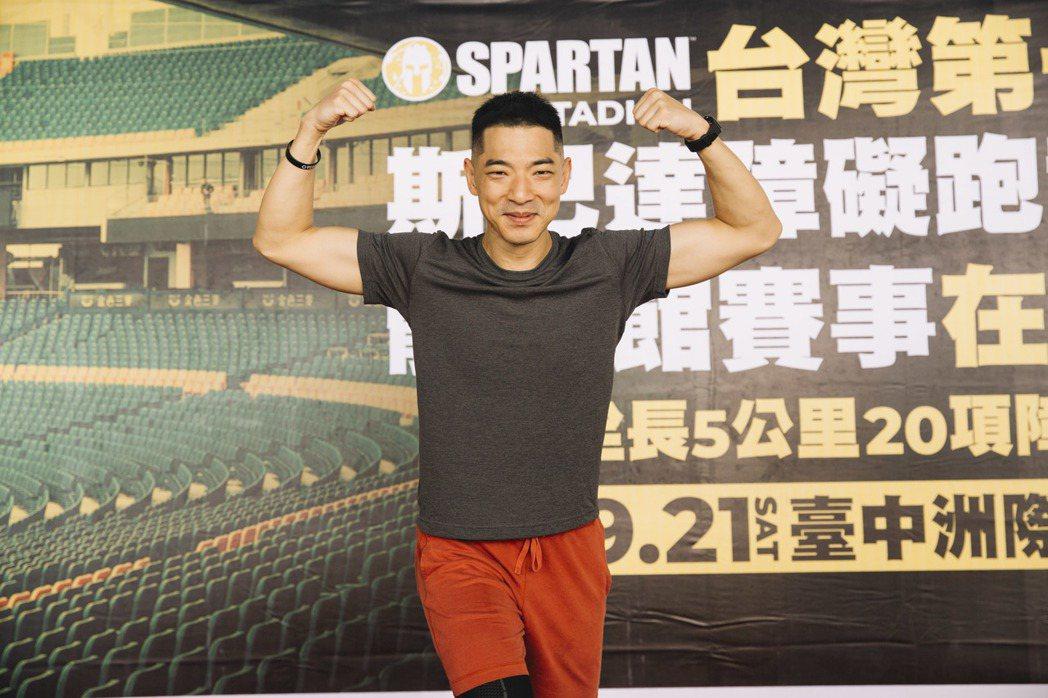 王大文擔任斯巴達障礙跑競賽活動大使,5月份初參賽即有不錯成績。圖/寬魚國際 、寬...