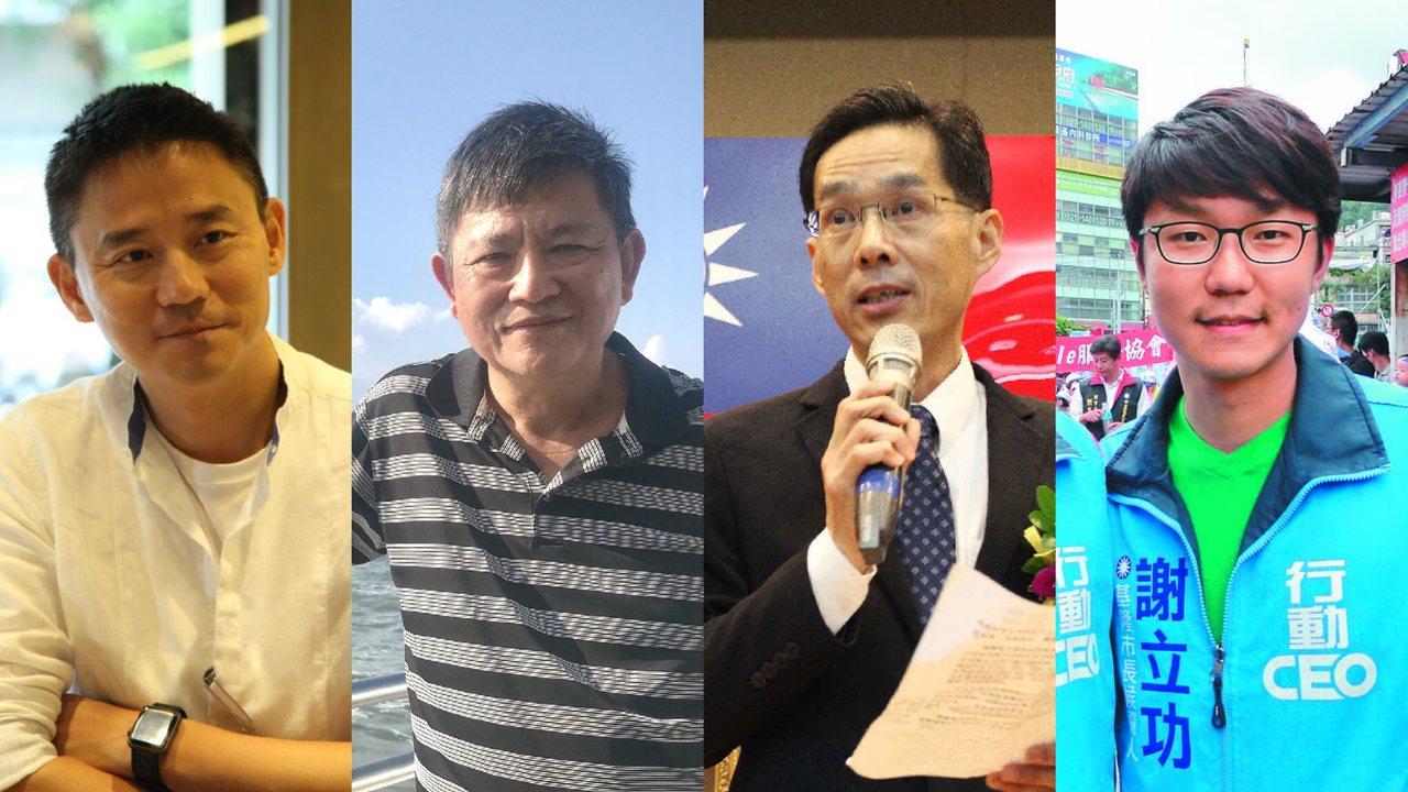 台中市長盧秀燕上任8個月,近期小內閣團隊將大幅調整,朱康震(左起)擔任政務副秘書...