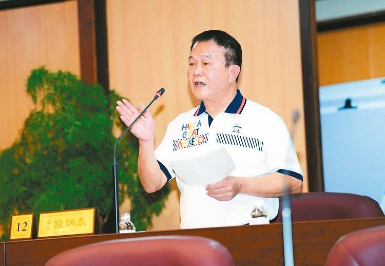 觀音區市議員歐炳辰因貪汙案判刑確定,將被解除職務。 圖/桃園市議會提供