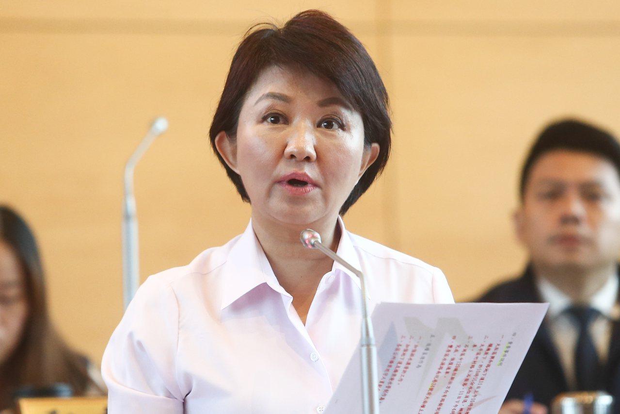 台中市長盧秀燕上任八個月,小內閣將調整。圖/聯合報系資料照片