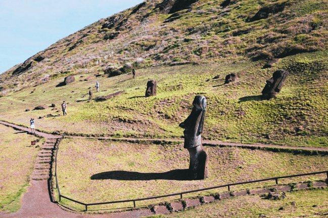 摩艾石像更添復活島的神秘色彩。 圖/格林旅遊提供