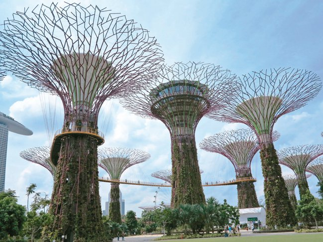 漂亮的濱海灣花園,是十分熱門的景點,持「獅城全景通」可暢行旅遊。 圖/陳志光、大...