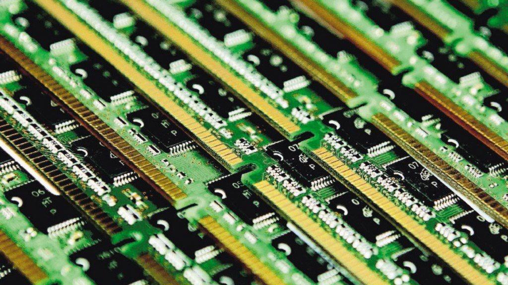 圖為記憶體晶片示意圖。 報系資料照