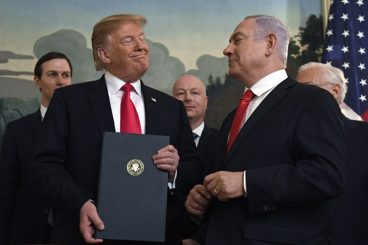 川普拉以色列打民主黨未能得逞。 美聯社