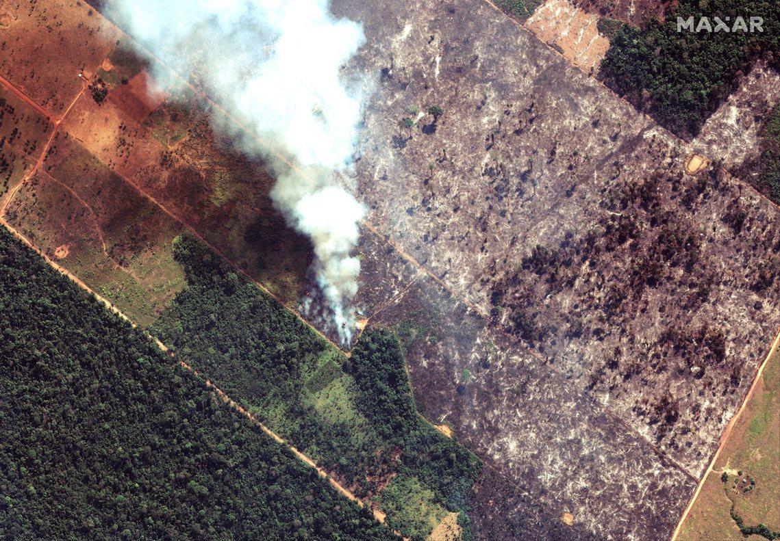 亞馬遜森林的破紀錄頻繁大火,持續延燒。包含法國總統馬克宏等國際輿論施壓,巴西總統...