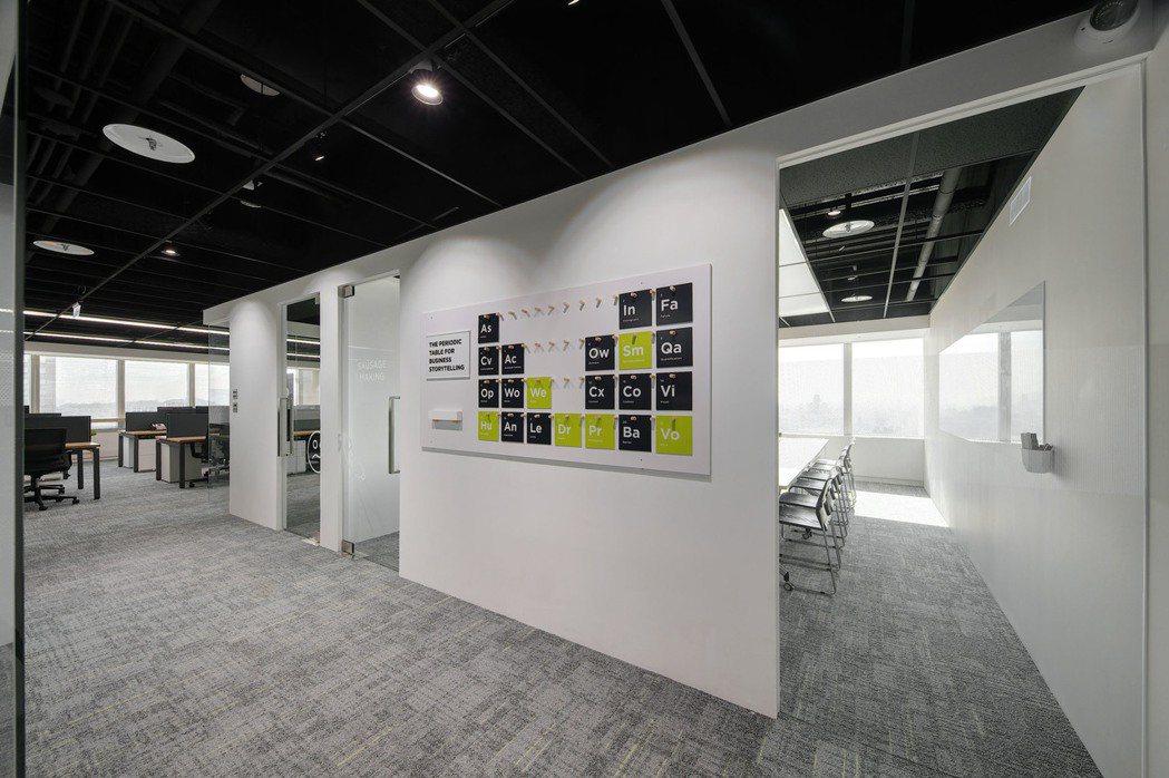 Hoffman台灣新辦公室融入創辦人獨創的公關元素週期表,展現專業及活力。 Ho...