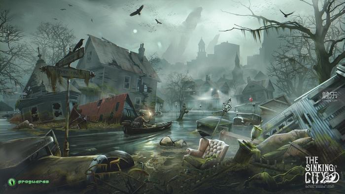 遊戲原畫。無論誰都能一眼看出,這地方住起來肯定不會舒服。
