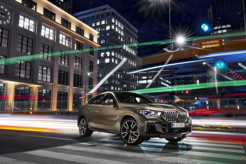 全新世代BMW X6豪華運動跑旅預售價365萬元起。 圖/汎德提供