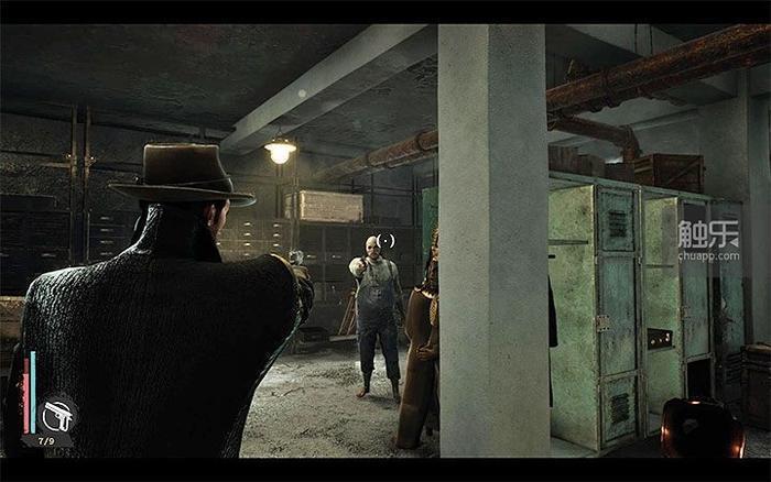 如果主角不開槍,大概兩秒之後,圖中的印斯茅斯人才會開槍,還可能打偏