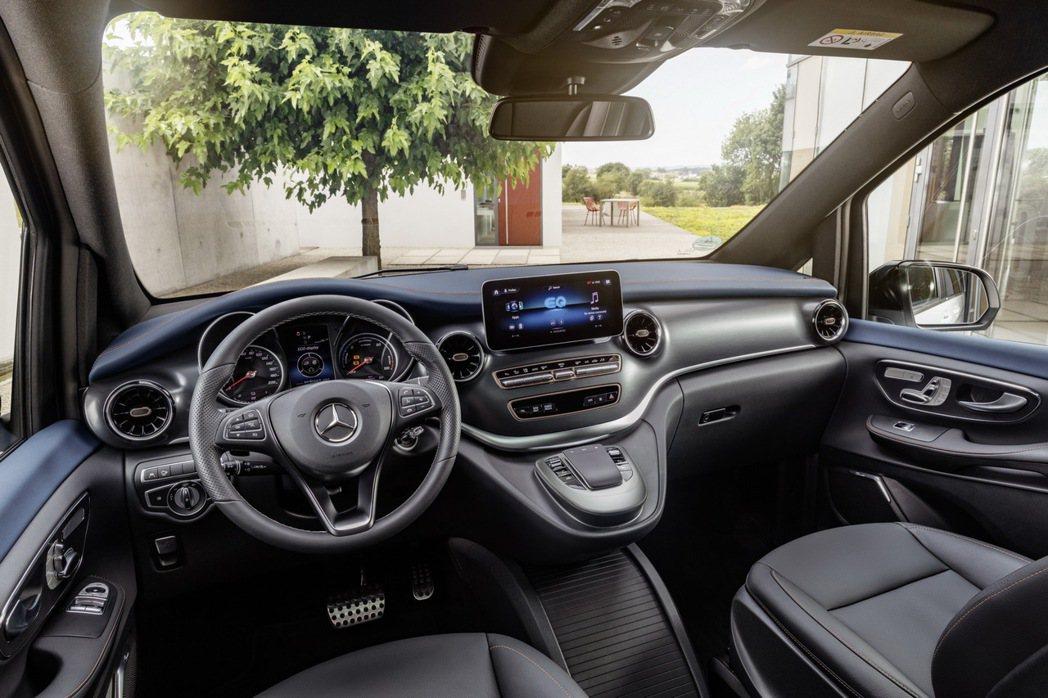 Mercedes-Benz EQV內裝格局。 摘自Mercedes-Benz