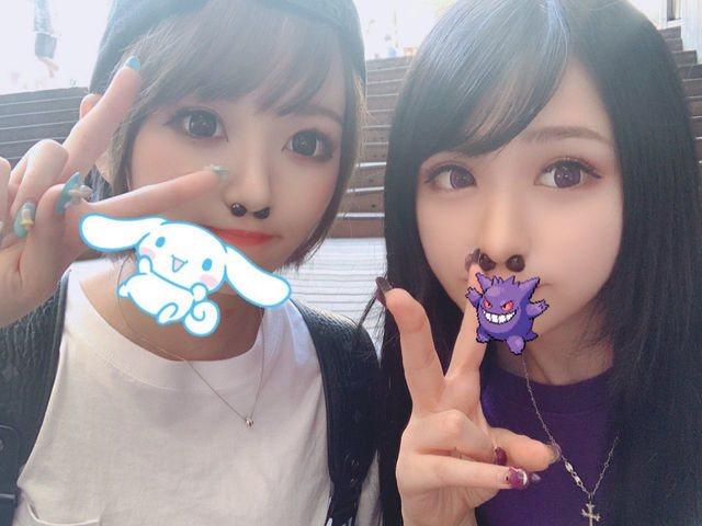 日本上班族近期流行用珍珠塞鼻孔自拍並上傳至Twitter。圖擷自微博「小野妹子學...