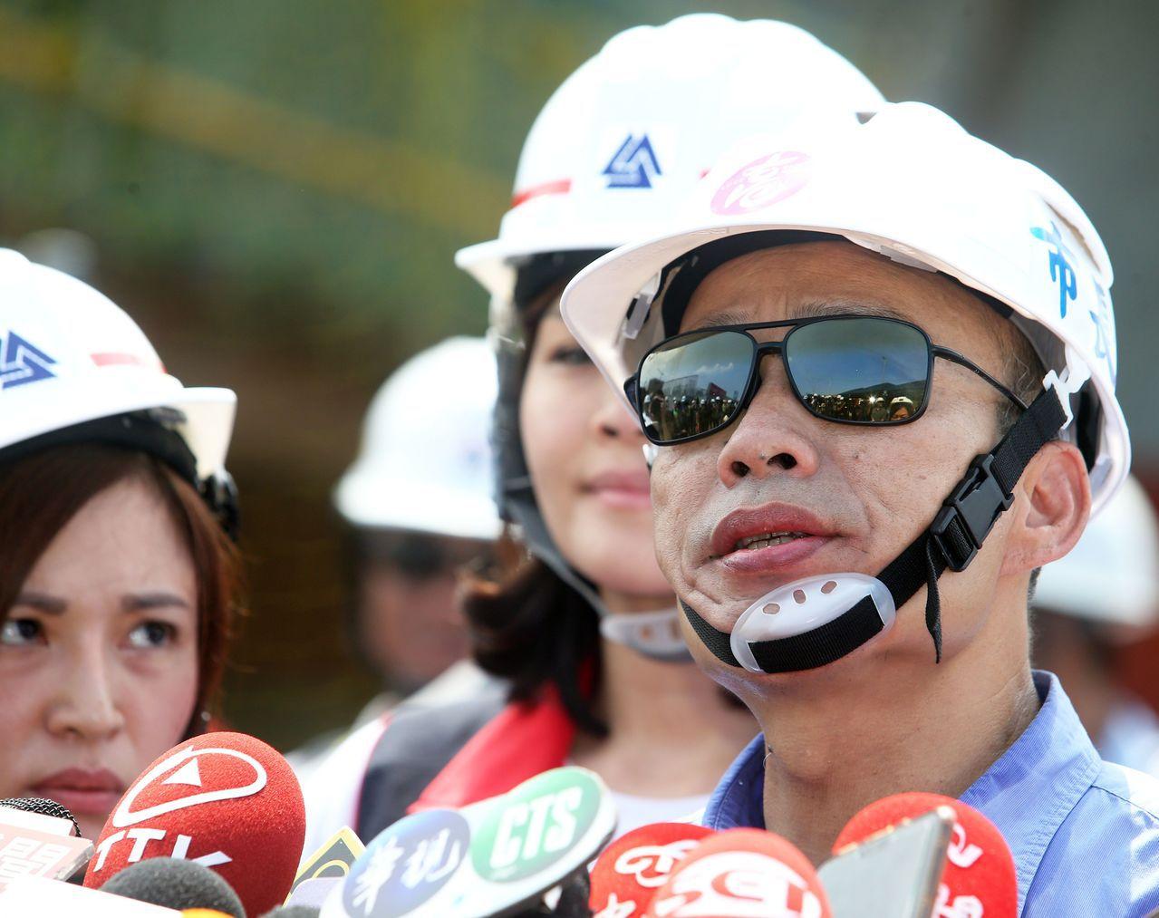 白鹿颱風直撲台灣而來,高雄市長韓國瑜今天表示,周日不去台中選舉造勢了,要留守高雄...