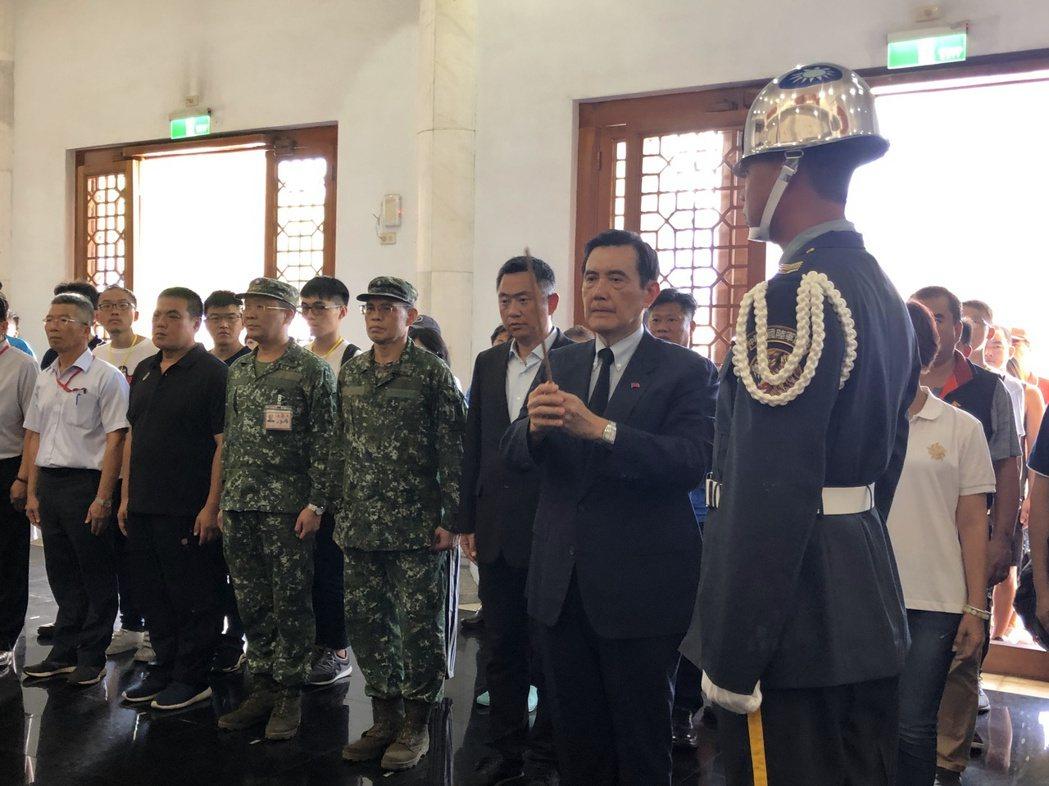 前總統馬英九連續兩年到金門參加823戰役公祭儀式。記者蔡家蓁/攝影