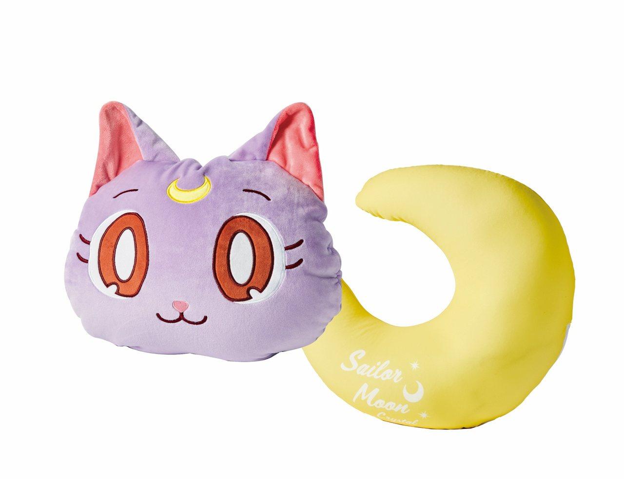 露娜貓&月亮造型兩用抱枕,原價734元,特價587元,限量140份。圖/統一時代...